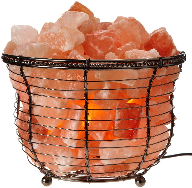 Himalayan Glow Round Basket Salt Lamp
